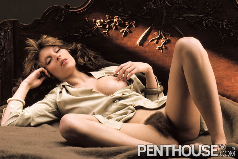 Veronique de Valdene posing nude for the October 1978 issue of Penthouse
