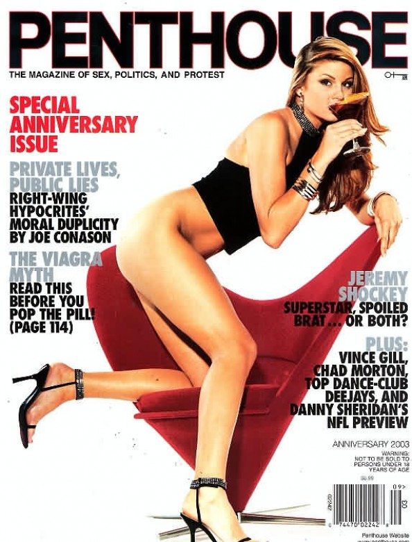 Chantelle Fontain on the cover of Penthouse magazine