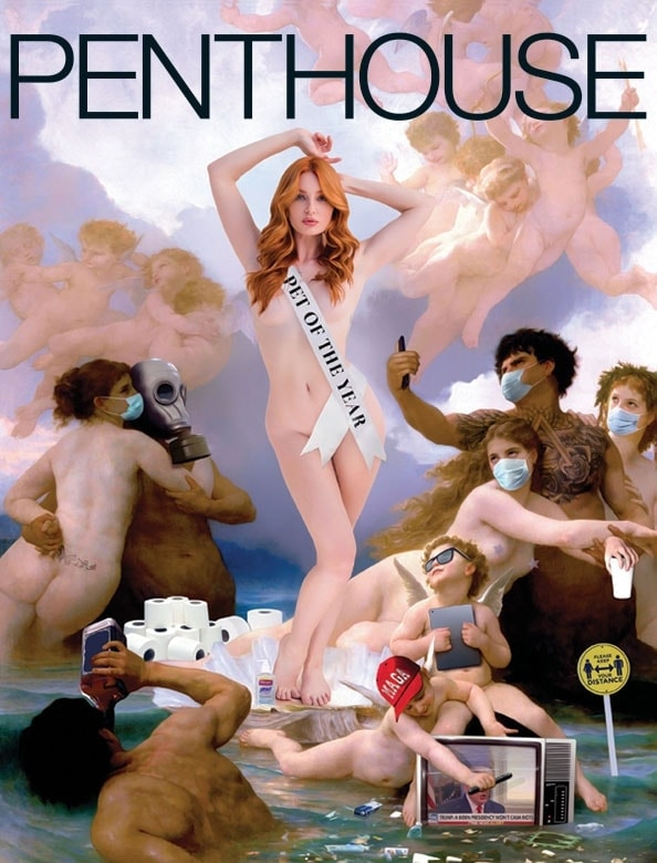 Lacy Lennon on the cover of Penthouse magazine