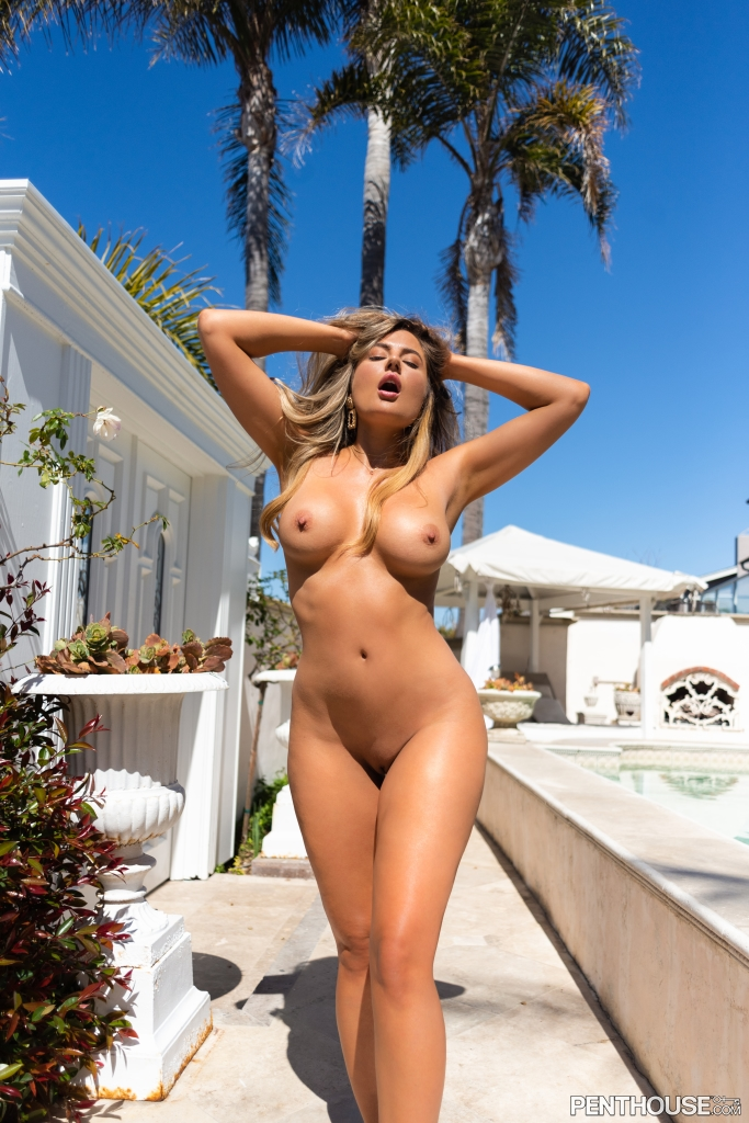 Cherie Noel nude in her August 2021 Penthouse Pet Of The Month photo spread 002