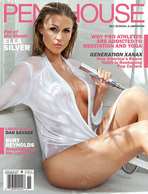 Ella Silver on the cover of Penthouse Magazine