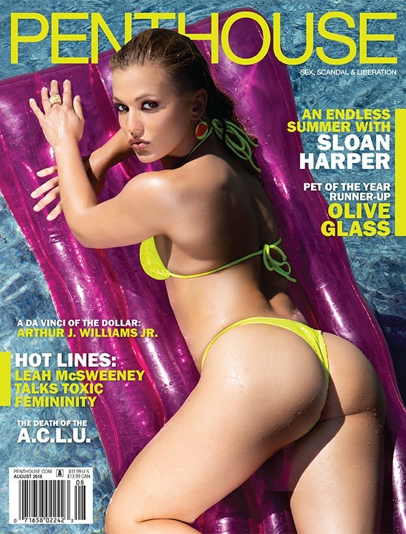 Sloan Harper on the cover of Penthouse Magazine