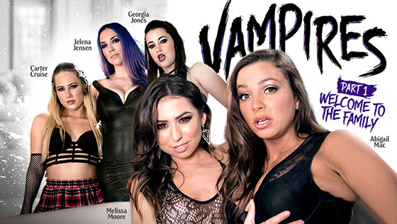 Carter Cruise, Melissa Moore, Abigail Mac, Jelena Jensen, Georgia Jones (Vampires: Part 1: Welcome To The Family / 09.17.2017)