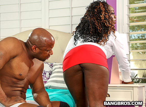 Bouncing This Big Ass on His Long Cock with Vickie Starxxx