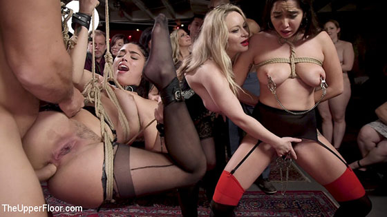 Aiden Starr, Karlee Grey, Vanessa Sky (Sexy Anal Submissive's Serve BDSM Swinger's Ball / 05.05.2018)