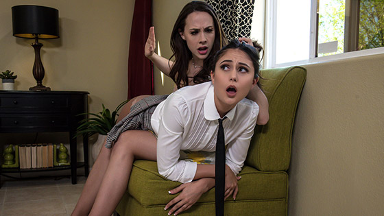 Preppies In Pantyhose Part 1 with Ariana Marie, Chanel Preston
