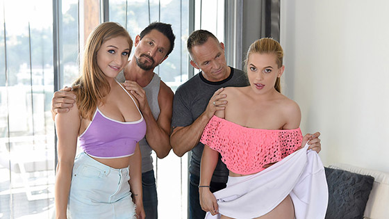 Fucking Fathers To Keep The Car with Skylar Snow, Sloan Harper