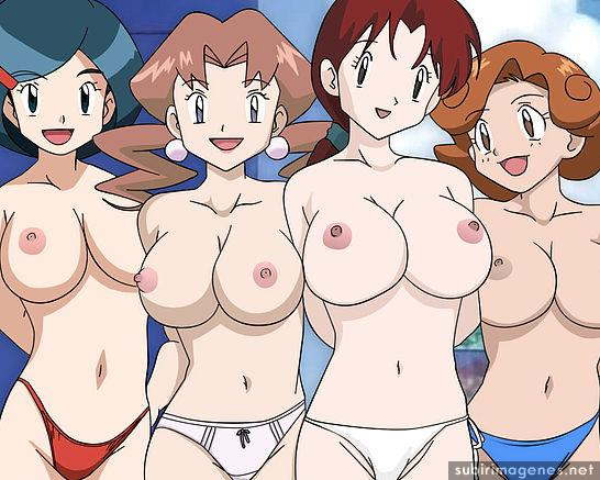 Compilacion de fotos porno Dawn y Madre de Ash desnudas