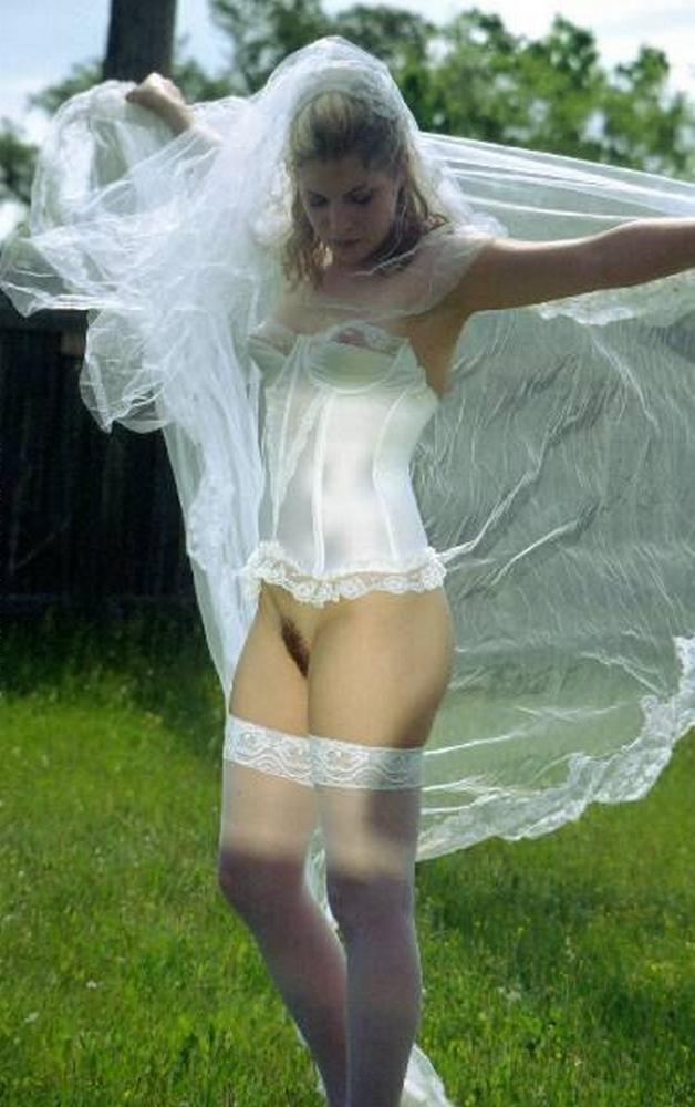 Cute bride in a wedding dress without panties  Sex Porn Pics Free