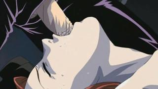 Tantalizing redhead hentai babe getting mouth fucked and pussy dildoed