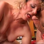 Image 50 plus mom Crystal bounces on guys cock