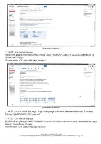Constat dhuissier effectué selon les règles de lart Page13 1 - Les emails présentés ont été authentifiés par un huissier selon les règles de l'art