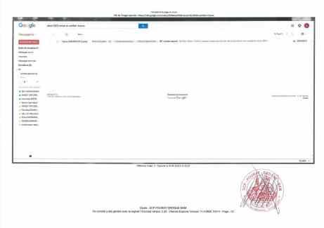 Constat dhuissier effectué selon les règles de lart Page23 1 - Les emails présentés ont été authentifiés par un huissier selon les règles de l'art