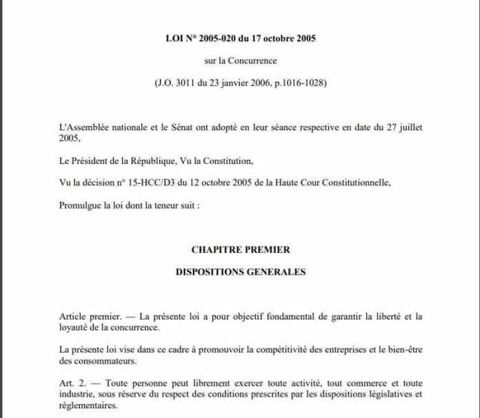NEXTHOPE RANARISON Tsilavo la loi 2005 020 du 17 octobre 2005 sur la concurrence à Madagascar - Le grossiste WESTCON autorisé par CISCO a revendu des produits CISCO à EMERGENT qui les a cèdés à la société CONNECTIC suivant un schéma mis en place par RANARISON Tsilavo en mars 2009 et approuvé par la société WESTCON Africa