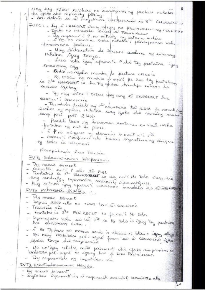 RANARISON Tsilavo extrait plumitif du 8 décembre 2015 Page2 - La totalité des décisions de justice condamnant Solo