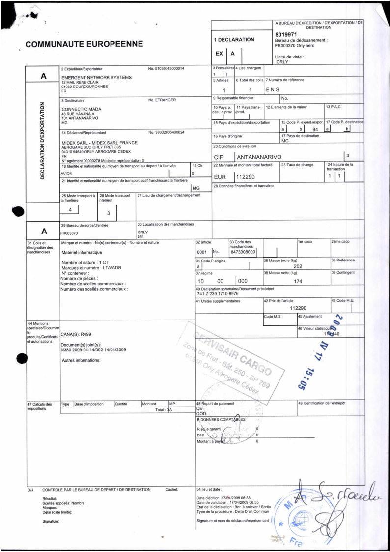 document douanier ex1