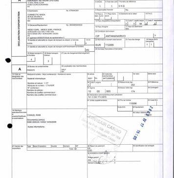 NEXTHOPE RANARISON Tsilavo Dossier EX1 2009 preuve douane française BMOI 2 - Home