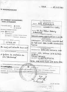 RANARISON Tsilavo a signé les ordres de virement 2010 5 - En 2010, RANARISON Tsilavo a signé TOUS les ordres de virements bancaires de CONNECTIC Madagascar  vers EMERGENT