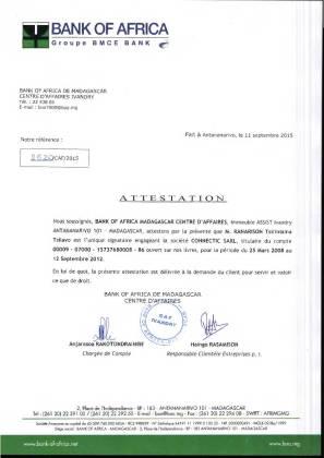 RANARISON Tsilavo NEXTHOPE est lunique signataire des BNI de CONNECTIC 3 - D'après l'article 1598 du code civil malgache : Tout ce qui est dans le commerce, peut être vendu SAUF pour les magistrats malgaches acquis à la cause RANARISON Tsilavo