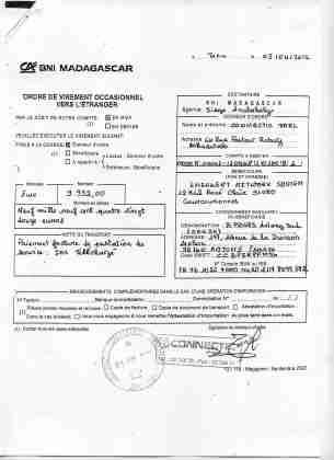 2012 virements bancaires tous signés par RANARISON Tsilavo 13 min - D'après l'article 1598 du code civil malgache : Tout ce qui est dans le commerce, peut être vendu SAUF pour les magistrats malgaches acquis à la cause RANARISON Tsilavo