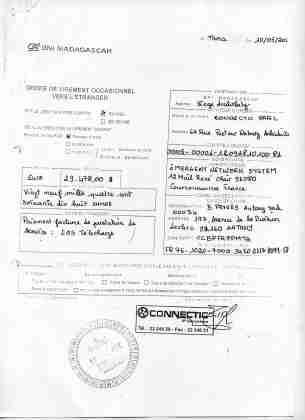 2012 virements bancaires tous signés par RANARISON Tsilavo 15 min - D'après l'article 1598 du code civil malgache : Tout ce qui est dans le commerce, peut être vendu SAUF pour les magistrats malgaches acquis à la cause RANARISON Tsilavo