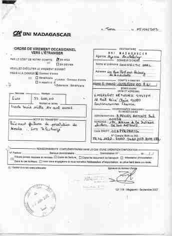 2012 virements bancaires tous signés par RANARISON Tsilavo 17 min - En 2012, RANARISON Tsilavo a signé TOUS les ordres de virements bancaires de CONNECTIC Madagascar  vers EMERGENT
