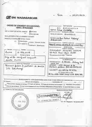 2012 virements bancaires tous signés par RANARISON Tsilavo 9 min - D'après l'article 1598 du code civil malgache : Tout ce qui est dans le commerce, peut être vendu SAUF pour les magistrats malgaches acquis à la cause RANARISON Tsilavo