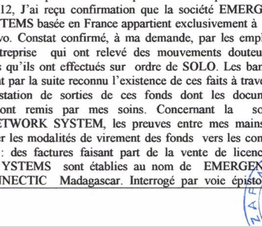RANARISON Tsilavo affirme devant lOPJ malgache quil ne connaît ENS quen septembre 2012 1 - Home