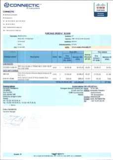 RANARISON Tsilavo ont signé les bons de commande de EMERGENT pour WESTCON Africa Page2 - RANARISON Tsilavo signent les bons de commande des produits CISCO achetés par EMERGENT NETWORK à WESTCON pour CONNECTIC