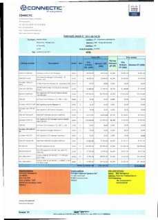 RANARISON Tsilavo ont signé les bons de commande de EMERGENT pour WESTCON Africa Page23 - Les bons de commande des produits CISCO achetés chez WESTCON COMSTOR par EMERGENT NETWORK pour CONNECTIC sont signés par RANARISON Tsilavo