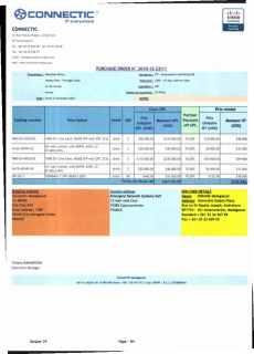 RANARISON Tsilavo ont signé les bons de commande de EMERGENT pour WESTCON Africa Page24 - En février 2009, RANARISON Tsilavo établit le premier bon de commande des produits CISCO  achetés à la société WESTCON Africa COMSTOR par EMERGENT NETWORK