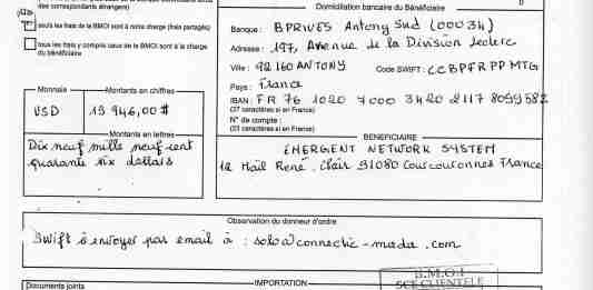 Virements 2011 pour EMERGENT signé par RANARISON Tsilavo 20 min - Home