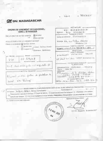 Virements 2011 pour EMERGENT signé par RANARISON Tsilavo 7 min - En 2011, RANARISON Tsilavo a signé TOUS les ordres de virements bancaires de CONNECTIC Madagascar  vers EMERGENT