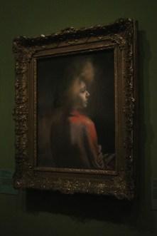 """""""Le châle rouge"""" (pastel) - Albert Besnard"""