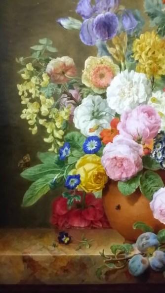 Fleurs dans un vase et branches de prunier d'Elise Bruyère, 1817