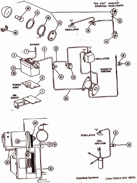 garden tractor wiring diagram parts list manual parts book