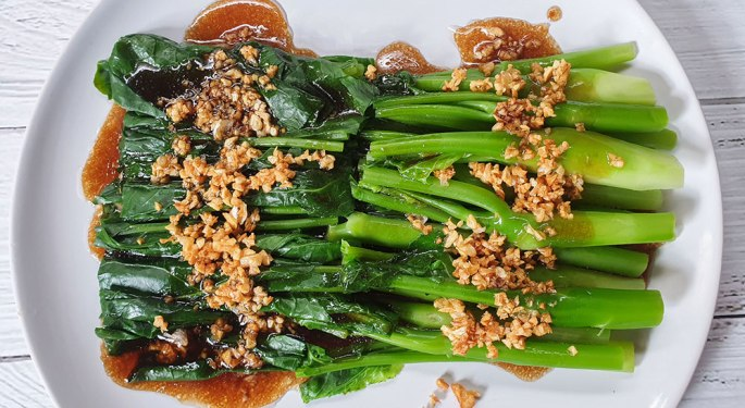Stir Fried Kale With Oyster Sauce