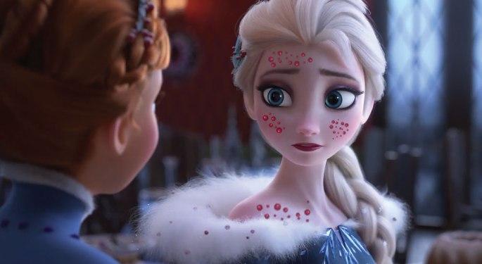 Elsa get chicken pox
