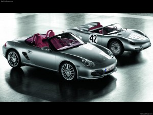 2008 Silver Porsche Boxster RS 60 Spyder Side angle top view