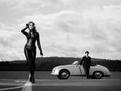 Porsche 356 Speedster and car girl wallpaper