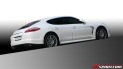 2011 white DMC Tuning Porsche Panamera Turbo Side view