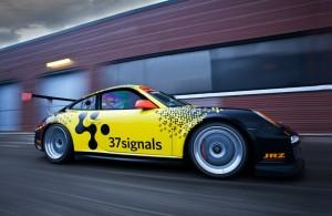 37Signals 2011 hours of Sebring Hansson's Porsche 911