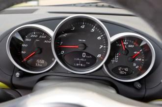 Peridot Metallic 2011 Porsche Cayman R Interior Dashboard