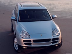 Porsche Cayenne 2003 wallpaper Front top view