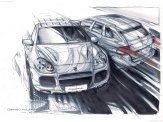 Porsche Cayenne 2003 wallpaper Drawing