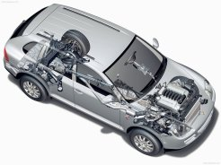 Porsche Cayenne 2004 1600x1200 wallpaper Top angle view Chassis