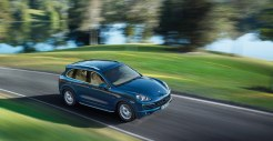 Blue Metallic Porsche Cayenne Diesel 2011 3000x1560 wallpaper Side angle top view