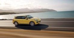 Yellow Porsche Cayenne S 2011 3000x1560 wallpaper Side view