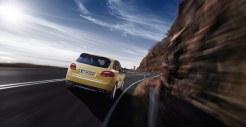 Yellow Porsche Cayenne S 2011 3000x1560 wallpaper Rear view