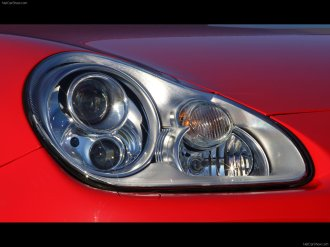 Red Porsche Cayenne S Titanium 2006 1600x1200 wallpaper Head light